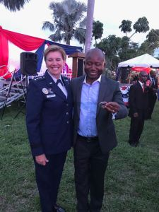 4 Star General Lori Robinson and Dr. Magnus Ekedede