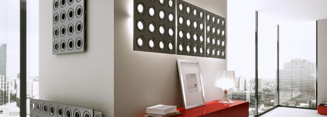 3D wall panels with matching radiator covers