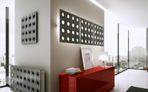 3D Wall Panels with maching radiator cover