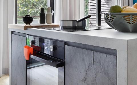Natural Slate veneer Kitchen Doors