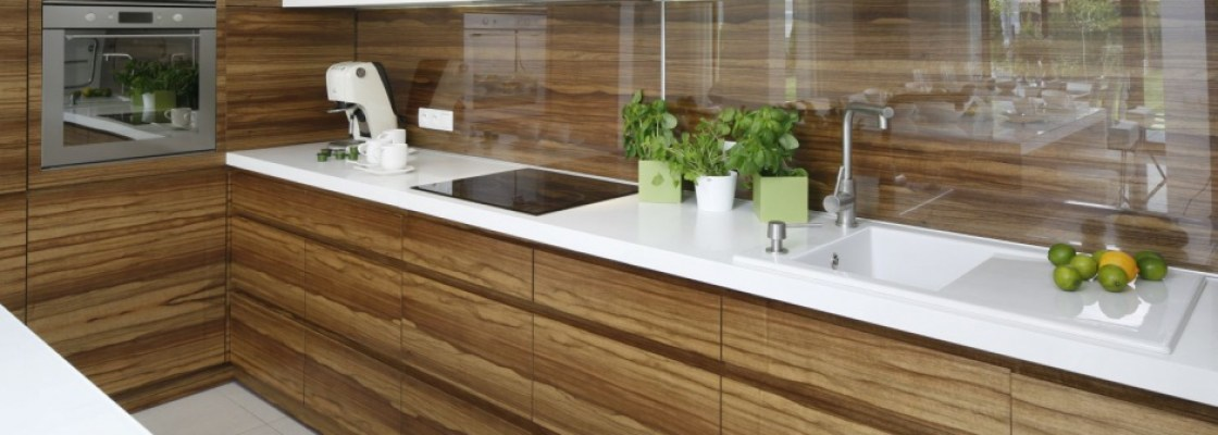Wood Veneer kitchen doors