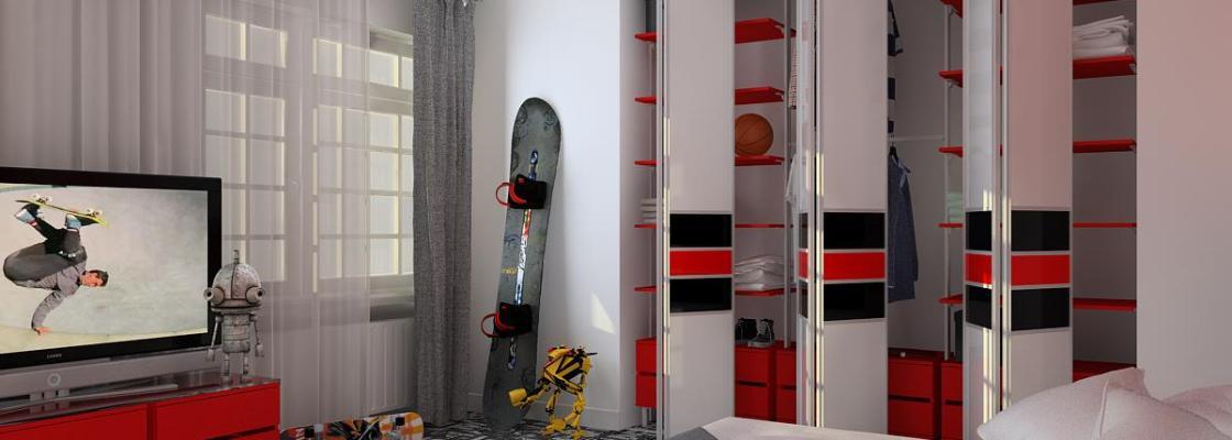 Bi-fold sliding wardrobe doors