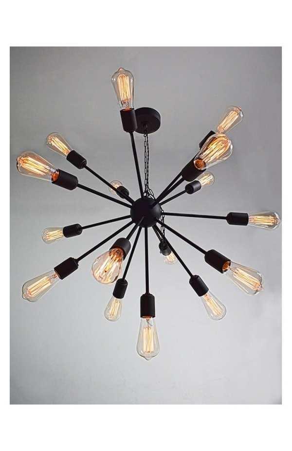 duża lampa industrialna czarna dover