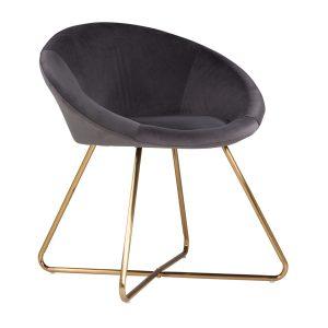 owalny fotel tapicerowany kala