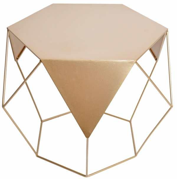 złoty stolik kawowy glamour