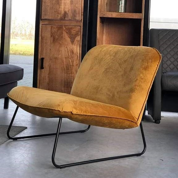 fotel tapicerowany żółty youri
