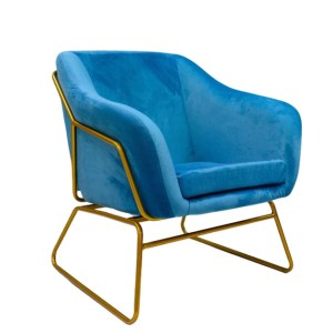 fotel tapicerowany niebieski paeo