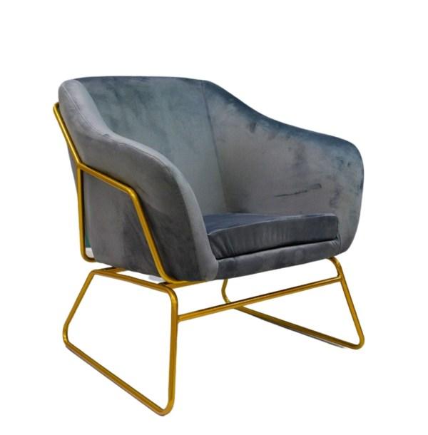 fotel tapicerowany szary paeo
