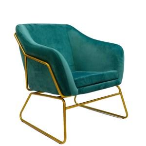 fotel tapicerowany zielony paeo