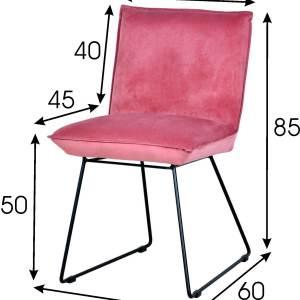 różowe krzesło welurowe vista