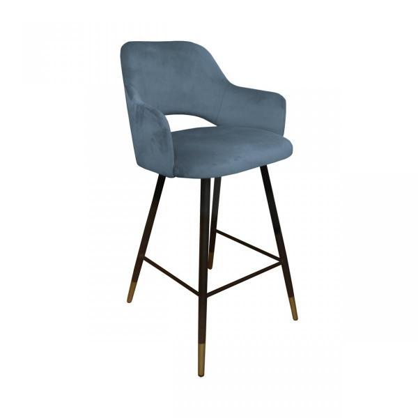krzesło hokerowe szare milano