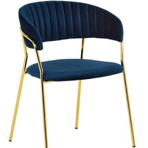 krzesło do jadalni granatowe nina