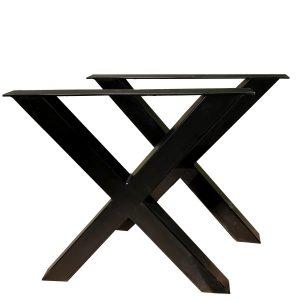 noga do stołu metalowa czarna X