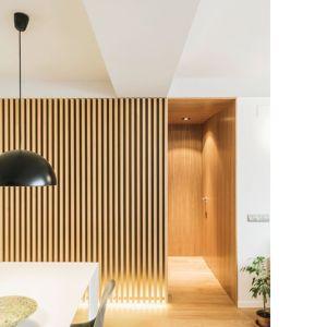 panel ścienny 3d lamele drewniane