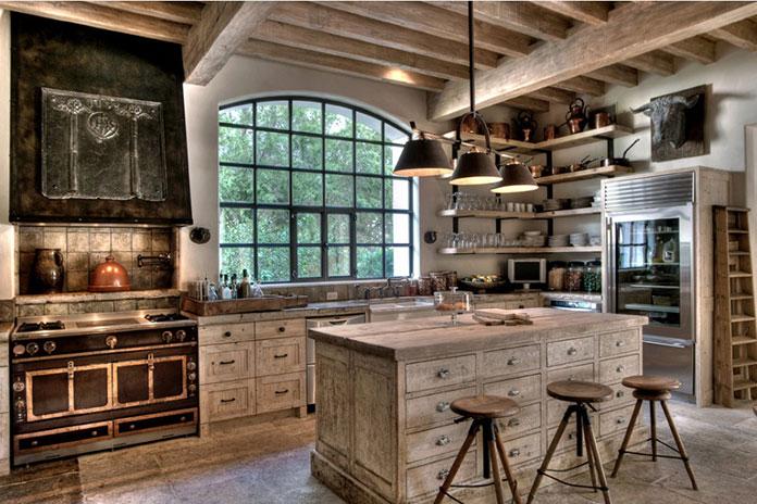 Kuchnia rustykalna w domu