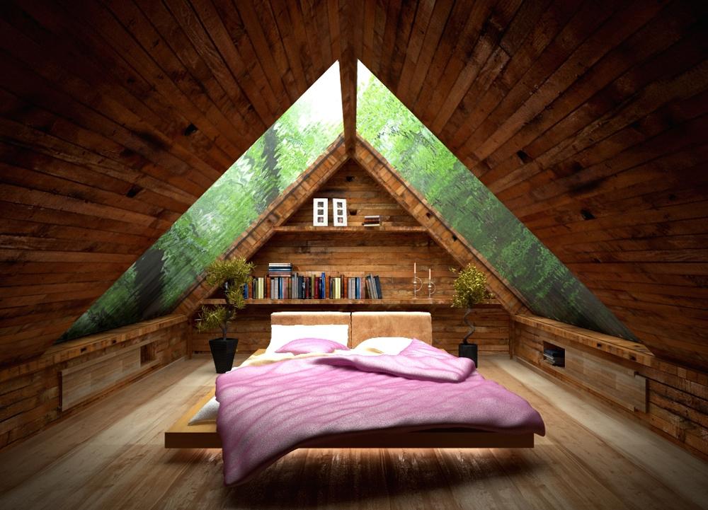Мансардное окно в скате крыше