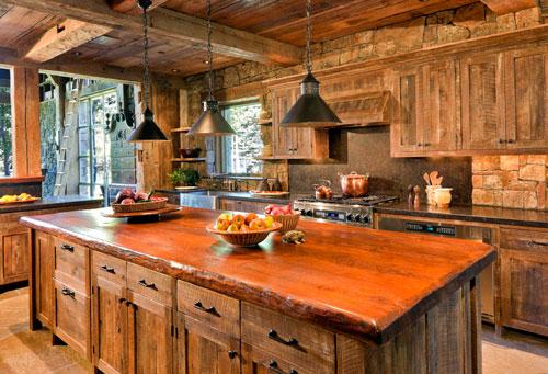 Фактура дерева украсит любой дизайн кухни