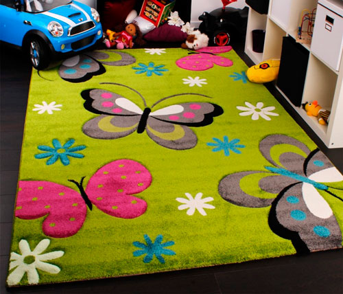Коврик для детской комнаты должен вписываться в общий стиль