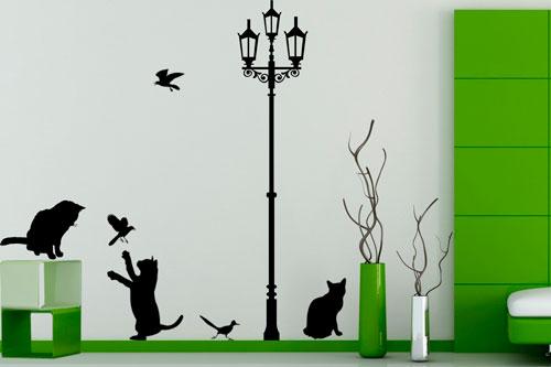Наклейки для стен - безопасный способ украсить их