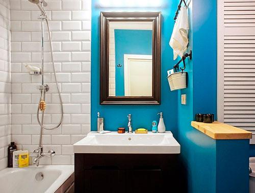 Скандинавский стиль в ванной