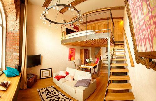 украсить квартиру с высокими потолками