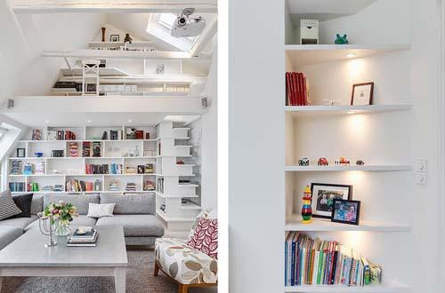 Стеллажи для книг - отличный способ организовать помещение