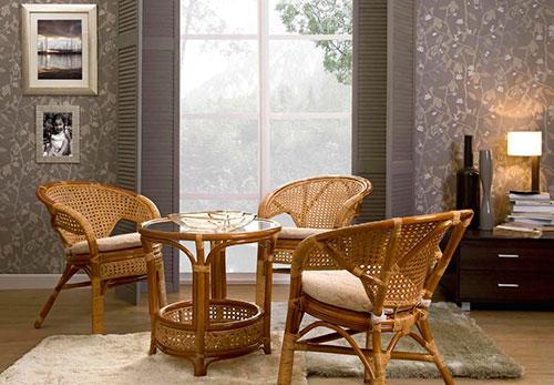 Кресла из ротанга подойдут для гостиной