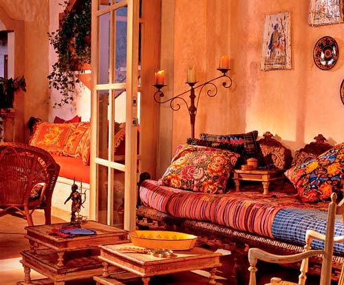 Аксессуары для гостиной в стиле этно