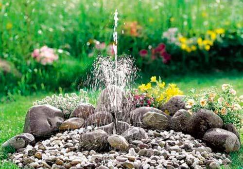 Как сделать фонтан на даче своими руками