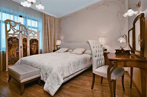 Модерн хорошо подходит для спальни