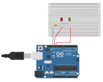 Encender y apagar dos LED con Arduino