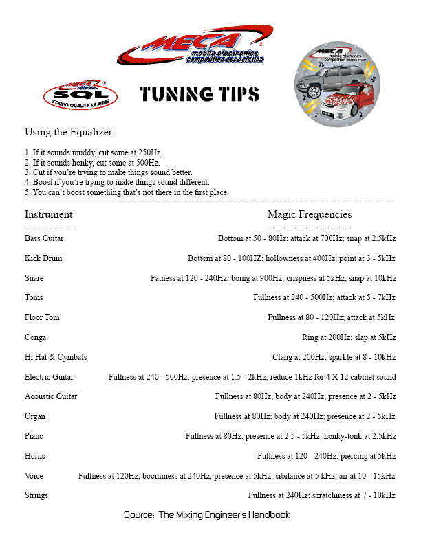 SQL Tuning Tips – MECA – Mobile Electronics Competition Association