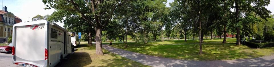 Skyttegatan ligger precis intill stadsparken och Wadköping