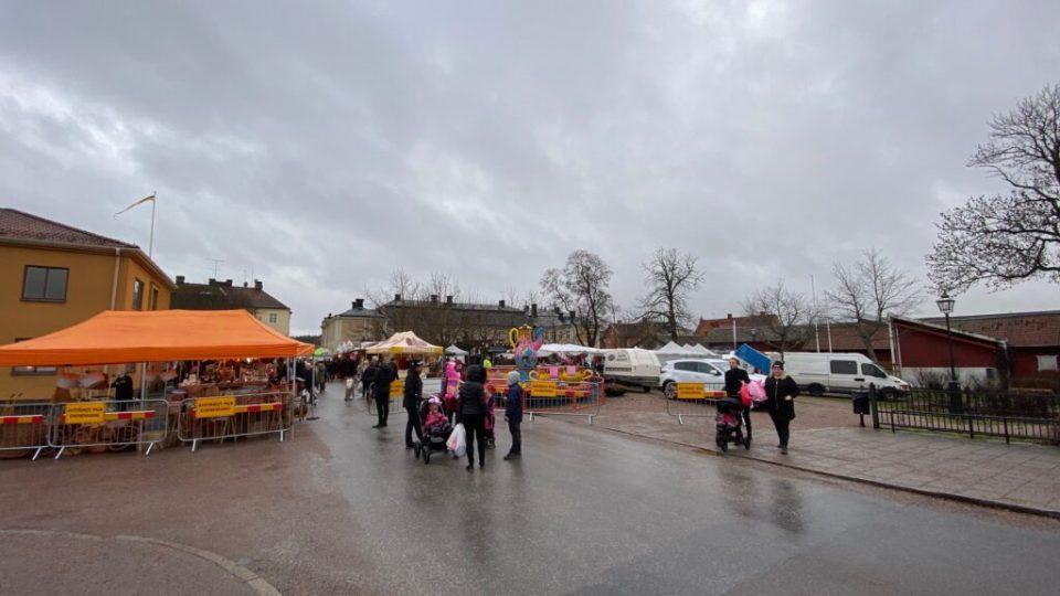 Arboga vintermarknad var liten...