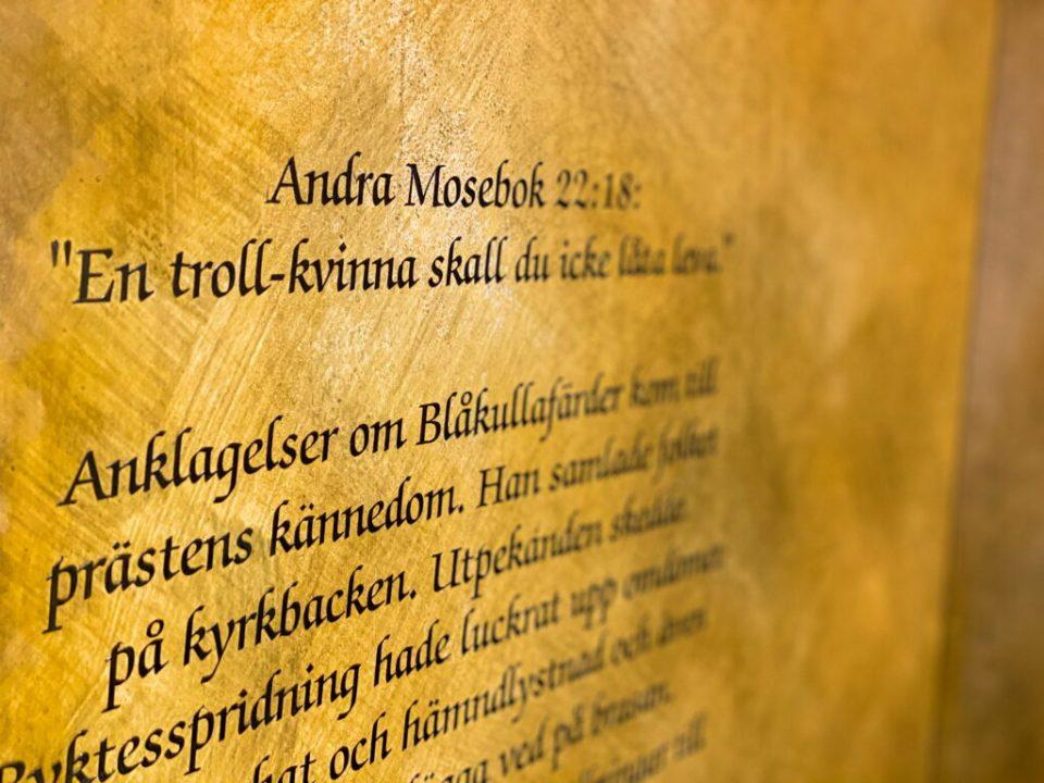I Moseboken står det att häxor ska dödas.