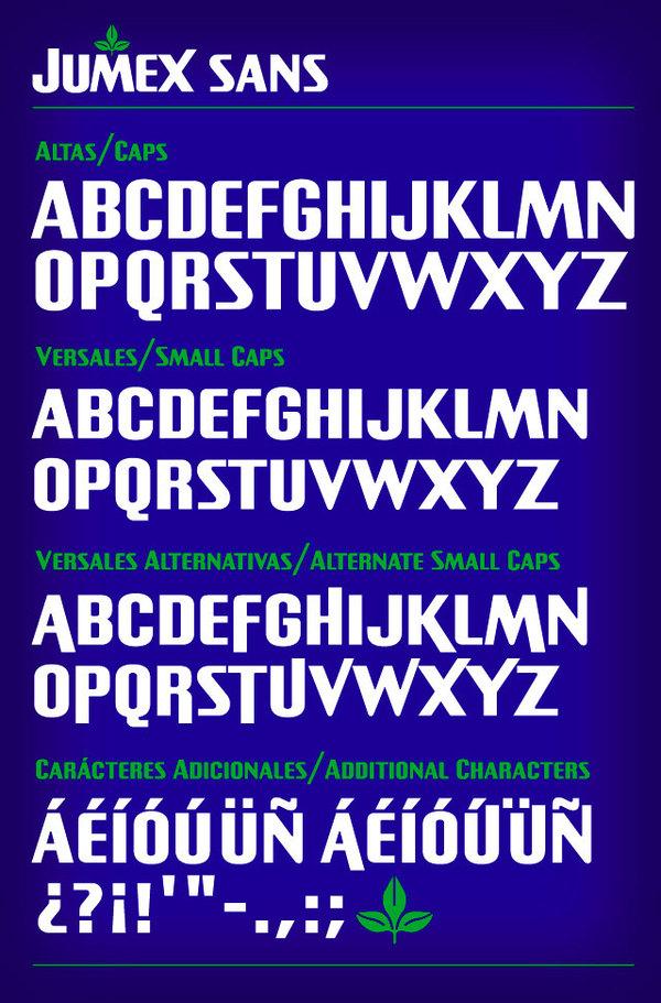 Jumex nombres y tipografías