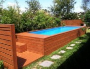 shipping container pools and cabanas | @meccinteriors | design bites