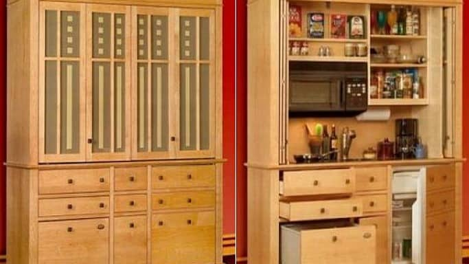 Mini Kitchens Disguised As Furniture | @meccinteriors | Design Bites