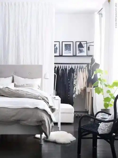 how to reclaim lost space with a walk-through wardrobe