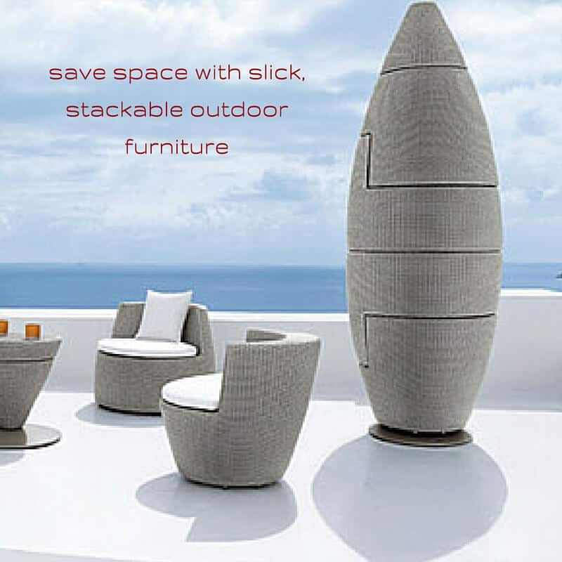 Save Space With Slick Stackable Outdoor Furniture Mecc Interiors Inc