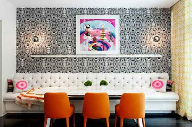 bold colour and patterns bring high drama to chelsea | @meccinteriors | design bites
