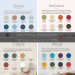 dutch boy shares their 32 top colours for 2018 | @meccinteriors | design bites