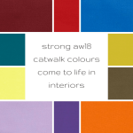 #tuesdaytrending: strong aw18 catwalk colours come to life in interiors | @meccinteriors | design bites