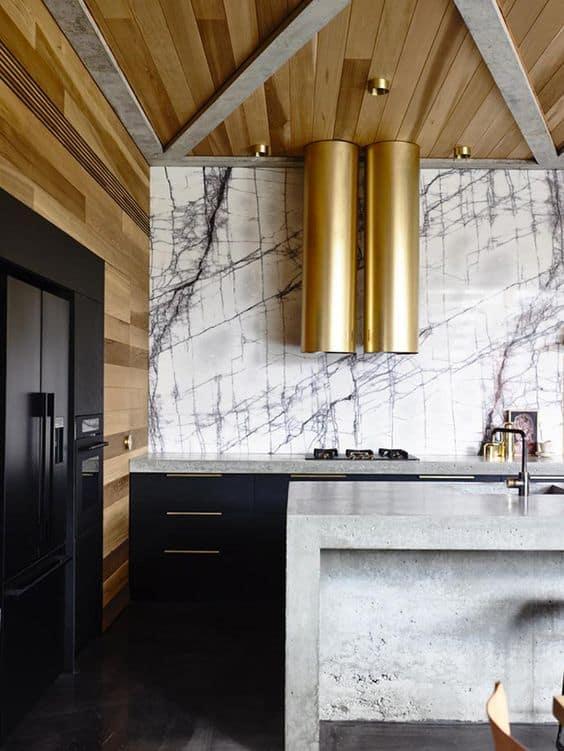 gold in the kitchen   @meccinteriors   design bites