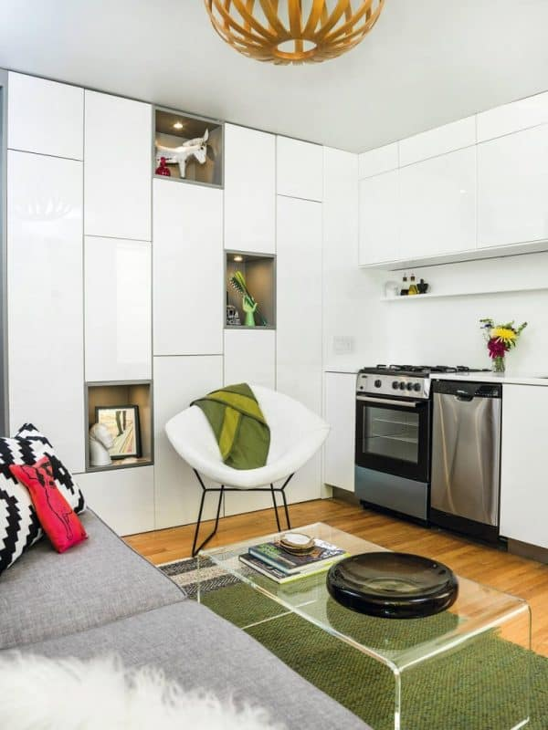 save and find space in a tiny apartment | @meccinteriors | design bites