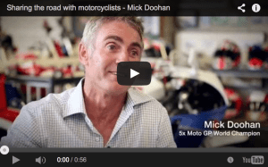 Sharing the road with motorcyclists – Mick Doohan