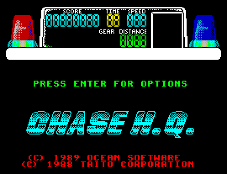 Chase Hq Title Screen