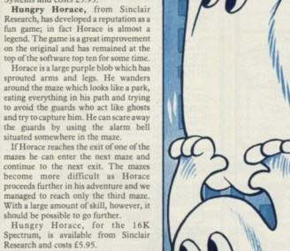 Sinclair User review of Hungry Horace