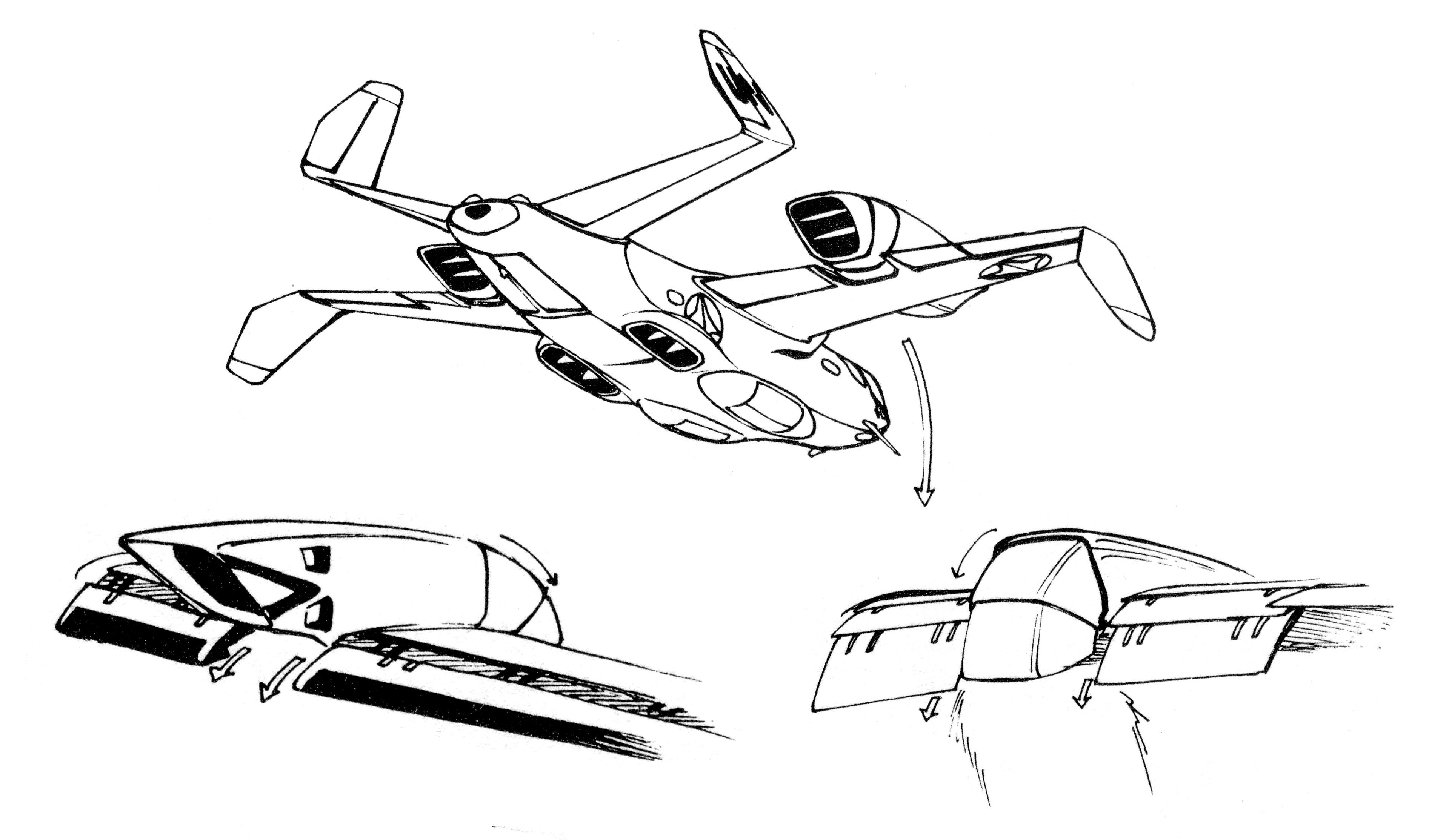 Grumman Vc 33 Vtol Light Cargo Aircraft