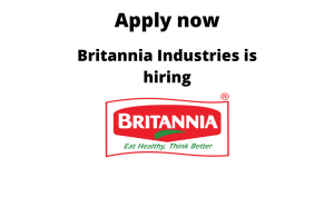 Britannia Industries is hiring | Production Officer | BTech/BE in Bio-Chemistry/ Bio-Technology/ Mechanical |